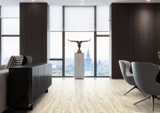 Good Quality PVC Decorative Film & Glue - Less Install Lvt Wood Plank Flooring For Residential And Commercial on sale