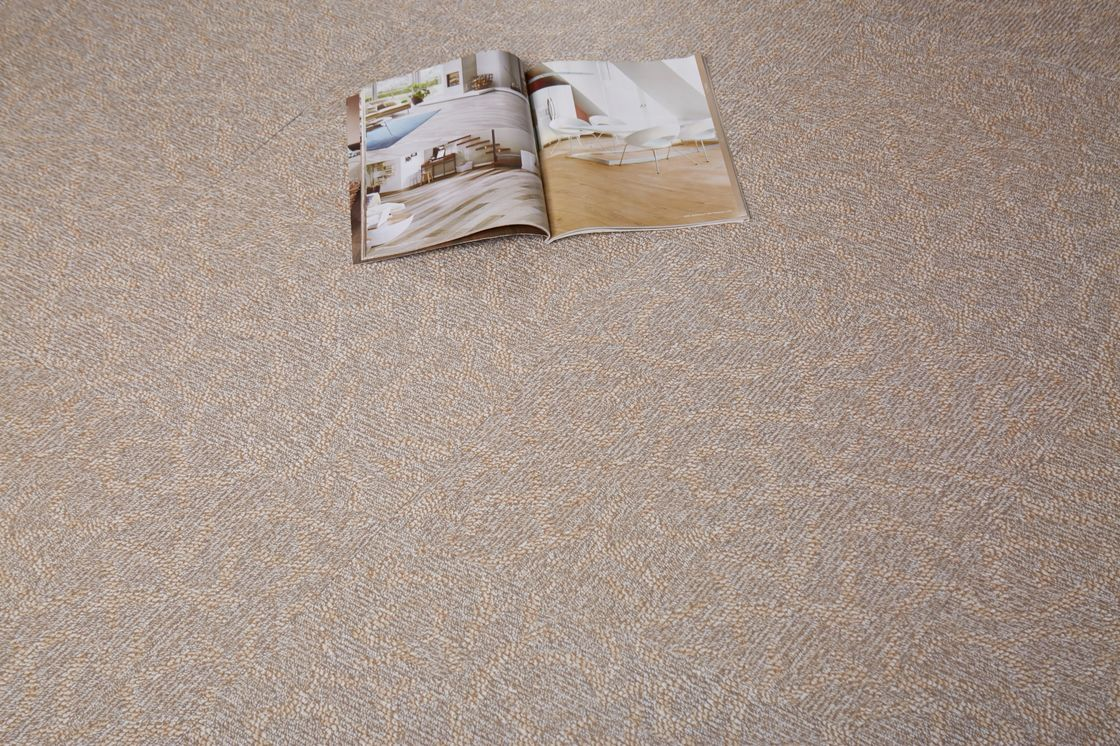 Textured Pattern PVC Carpet Flooring UV Coating For Surface Protection