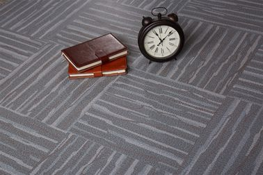 Eco - Friendly Glossy PVC Carpet Flooring / Grey Pvc Flooring 457.2mmx457.2mm