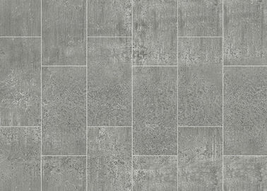 Grey Marble Effect Floor Film  Fashionable Style 0.07mm Thickness