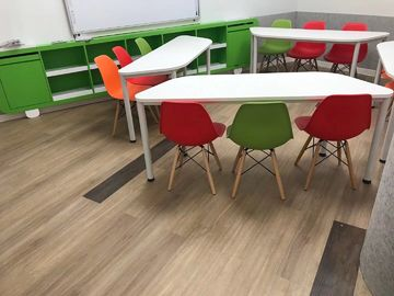 Plastic resilient vinyl plank flooring water proof/anti-scratch with wear layer protection